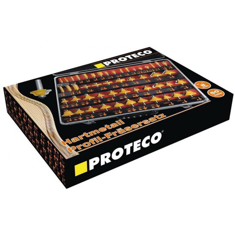 PROTECO Frezy do drewna - zestaw 50 elementów (10.10-SF-50)