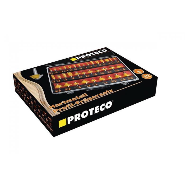 PROTECO Frezy do drewna - zestaw 35 elementów (10.10-SF-35)