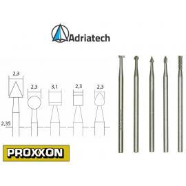 PROXXON Frezy ze stali wolframowo-wanadowej 5 szt. (28710)