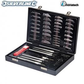 SILVERLINE Zestaw nożyków skalpeli 51 szt do prac modelarskich  251239