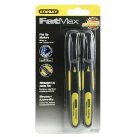 STANLEY Marker czarny standard Fatmax 2 szt (47-312)