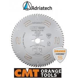 """CMT Piiła chromowana wyciszona z zębem typu """" na przemian skos"""" D-300 F-30 zębów 72  (285.672.12M)"""