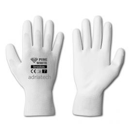 Bradas  Rękawice ochronne PURE WHITE poliuretan, rozmiar 9