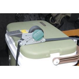 Wolfcraft Zacisk taśmowy  z mechanizmem zapadkowym, zwijaniem i hakiem (WF3271000) 100 kg