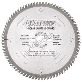 CMT Piła do płyty laminowanej D-350 F-30 zębów 84 (281.084.14M)