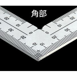 SHINWA kątownik stalowy 30 cm 8 skali inox (10421)