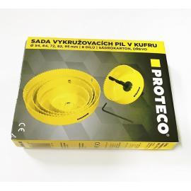 PROTECO Otwornice 54-95mm do drewna i gipskartonu - zestaw 5szt (42.02-10176)