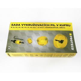 PROTECO Otwornice 19÷64 mm do drewna i gipskartonu - zestaw 7szt (42.02-10179)