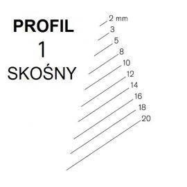 KIRSCHEN Dłuto snycerskie proste skośne krótkie profil 1SR szerokość 2mm (5602002)
