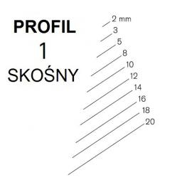 KIRSCHEN Dłuto snycerskie proste skośne krótkie profil 1SR szerokość 8mm (5602008)