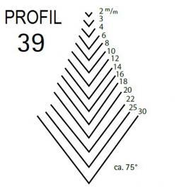 KIRSCHEN Dłuto snycerskie krótkie proste typu V profil 39 szerokość 2mm (5639002)