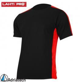 LAHTI Koszulka T-shirt czarno-czerwona L40227