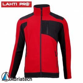LAHTI Bluza polarowa ze wzmocnieniami czerwono-czarna L40115