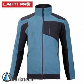 LAHTI Bluza polarowa ze wzmocnieniami turkusowo-czarna L40114