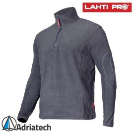 LAHTI Bluza polarowa z krótkim suwakiem szara LPBP3