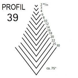 KIRSCHEN Dłuto rzeźbiarskie proste typu V profil 39 szerokość 2mm (3139002)