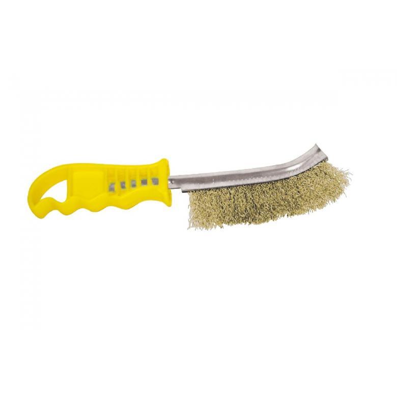 PROTECO Szczotka druciana ręczna drut mosiądzowany (10.237-12)