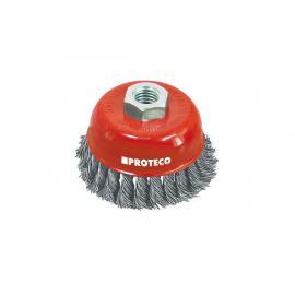 PROTECO Szczotka doczołowa 65mm drut stalowy 0,5mm splatany (10.233-065)
