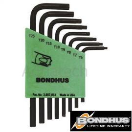 Bondhus Zestaw kluczy imbusowych torx krótkich TRX (31732)