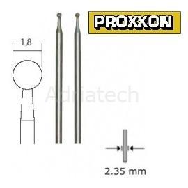 PROXXON Diamentowe końcówki szlifierskie  kuliste 2 szt 1.0 mm (28222)