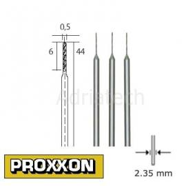 PROXXON Wiertła precyzyjne HSS 3 sz 0,5 mm (28864)