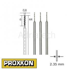 PROXXON Wiertła precyzyjne HSS 3 szt. 0,8mm (28852)
