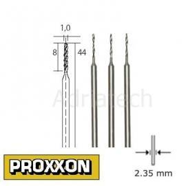 PROXXON Wiertła precyzyjne HSS 3 szt. 1,0mm (28854)