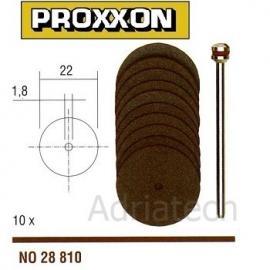 PROXXON Korundowe tarcze tnące 10 szt. 22 mm (28810)