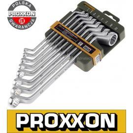 PROXXON Zestaw kluczy oczkowych - giętych, 8 - częściowy (23810)