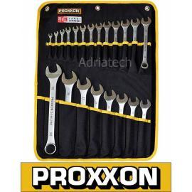 PROXXON Zestaw kluczy płasko-oczkowych, 21-częściowy (23822)