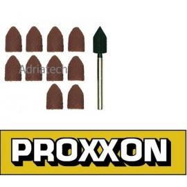 PROXXON Korundowe kołpaki do szlifowania oraz trzpień (28987)