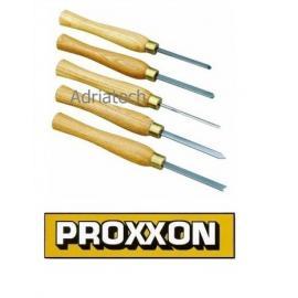 PROXXON Pięcioczęściowy zestaw dłut ze stali szybkotnącej (27023)