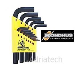 Bondhus Zestaw calowych kluczy imbusowych krótkich 13 szt (12237)