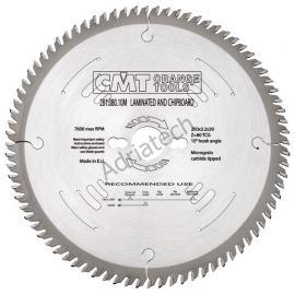CMT Piła do płyty laminowanej D-300 F-30 zębów 96 (281.096.12M)