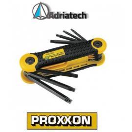 Proxxon scyzoryk z kluczykami imbusowymi do śrub TX, 8-częściowy (23954)