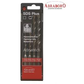 ABRABORO Wiertła do betonu SDS PLUS (5-10 mm) zestaw 4szt (16990463)