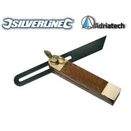 SILVERLINE Kątownik drewniany nastawny mini 100 mm  763570