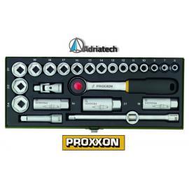 """PROXXON Kompaktowy zestaw z grzechotką 3/8"""", z nasadkami 6 - 24mm, 24 - części (23110)"""