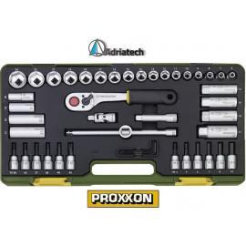 """PROXXON Zestaw kompaktowy z grzechotką typu baton 3/8"""", 47-części (23282)"""