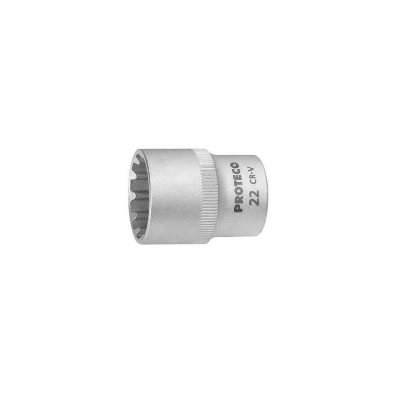 "PROTECO Nasadka sferyczna 1/2"" Spline 19 mm (43.12100-19)"
